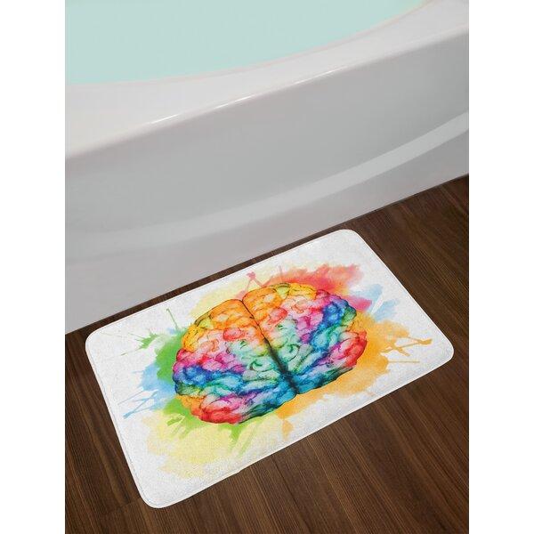 Vibrant Multicolor Watercolor Bath Rug by East Urban Home