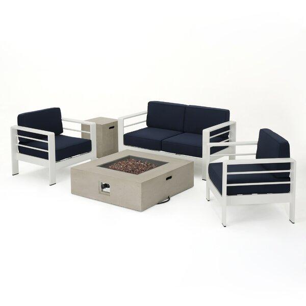 Villegas 5 Piece Sofa Set with Cushions by Orren Ellis