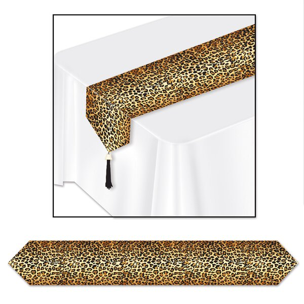 Leopard Print Table Runner by The Beistle Company