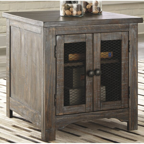 Theobald End Table with Storage by Gracie Oaks