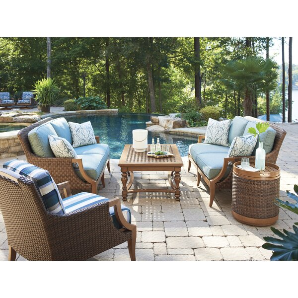 Harbor Isle 5 Piece Deep Seating Group with Cushions