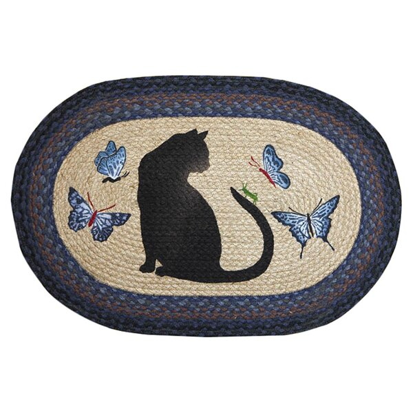 Cat/Grasshopper Printed Area Rug by Earth Rugs