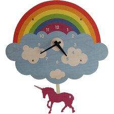 unicorn pendulum wall clock