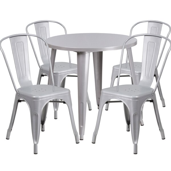 Chamblee Metal Indoor/Outdoor 5 Piece Dining Set by Latitude Run