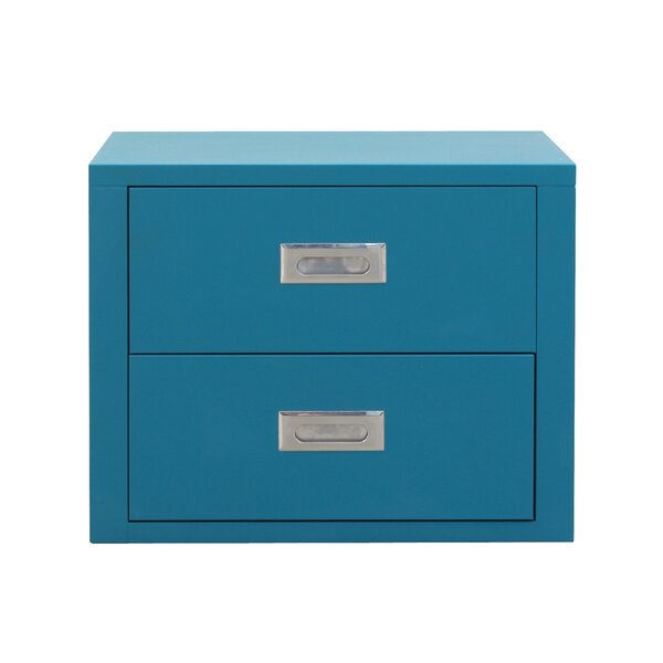 Stack 19.7 Metal 2 Drawer Storage Cabinet by Seletti