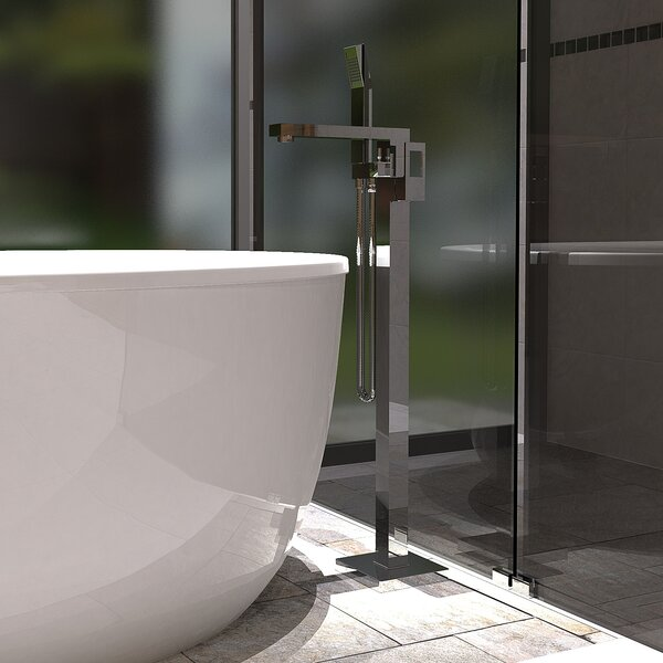 Single Handle Floor Mounted Freestanding Tub Fille