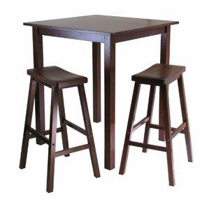 Parkland 3 Piece Pub Table Set by Luxury Home
