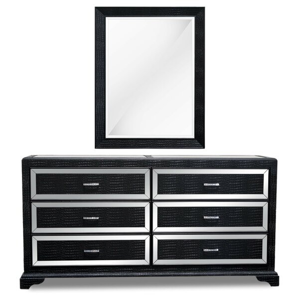 Lombardy 6 Drawer  Bachelors Chest with Mirror by Latitude Run