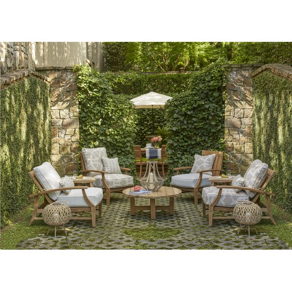 Croquet Teak Seating Group with Cushions by Summer Classics