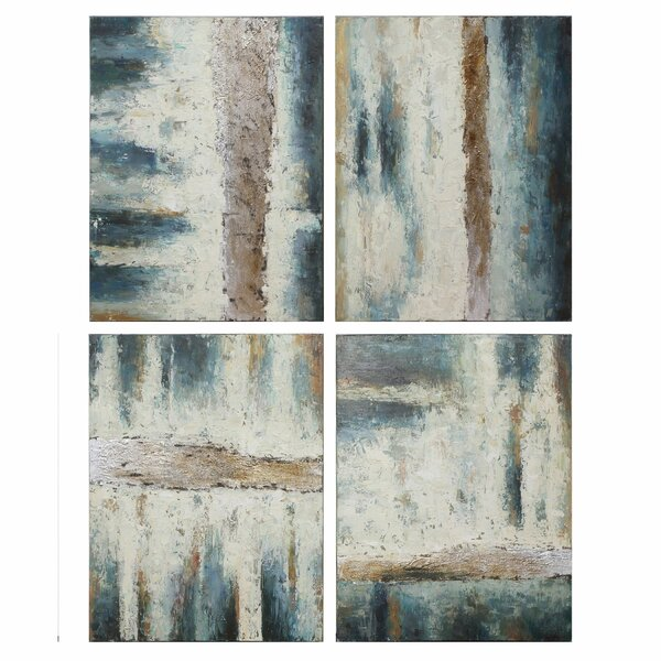 Jet Streams 4 Piece Painting Print Set by Latitude Run