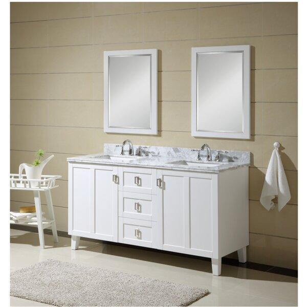 Larabee 60 Double Sink Bathroom Vanity Set by Latitude Run