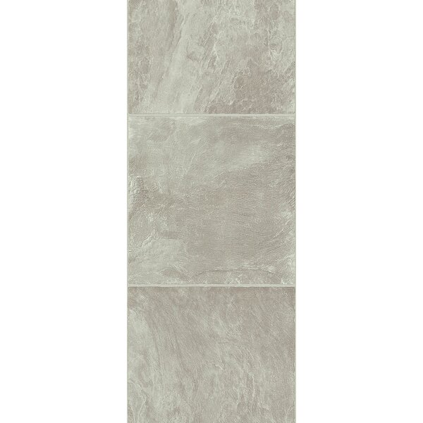 Stones and Ceramics 11.81 x 47.48 x 8.3mm Tile Laminate Flooring in Slate Grey Stone by Armstrong Flooring