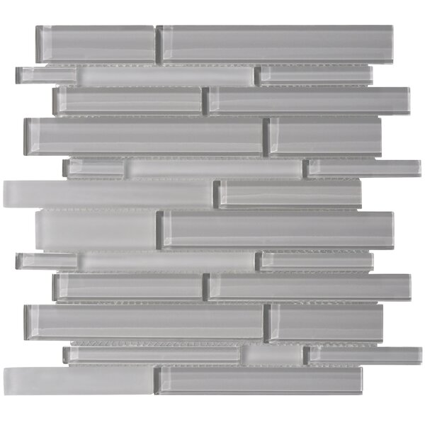 Premium Series Random Sized Glass Mosaic Tile in Dark Gray by WS Tiles