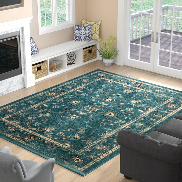 Morehouse Turquoise/Beige Area Rug by Three Posts