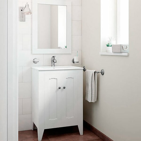 Leonardo Classic Vintage 24 Single Bathroom Vanity Set with Mirror by Mistana