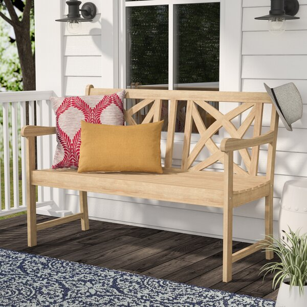 Baskerville Outdoor Wood Garden Bench by Darby Home Co