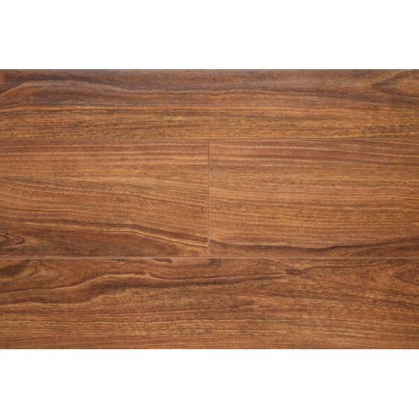 6.5 x 48 x 12mm Oak Laminate Flooring in Walnut by Chic Rugz