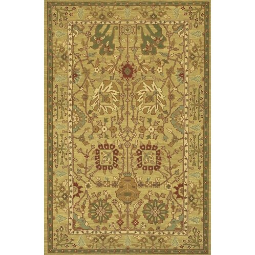 Abell Handmade Brown/Tan Area Rug by Alcott Hill