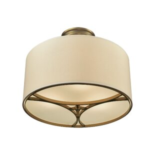 Compare prices Shawna 3-Light Semi Flush Mount By Darby Home Co