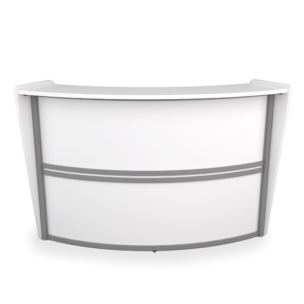 Marque Series Single-Unit Curved Reception Station by OFM
