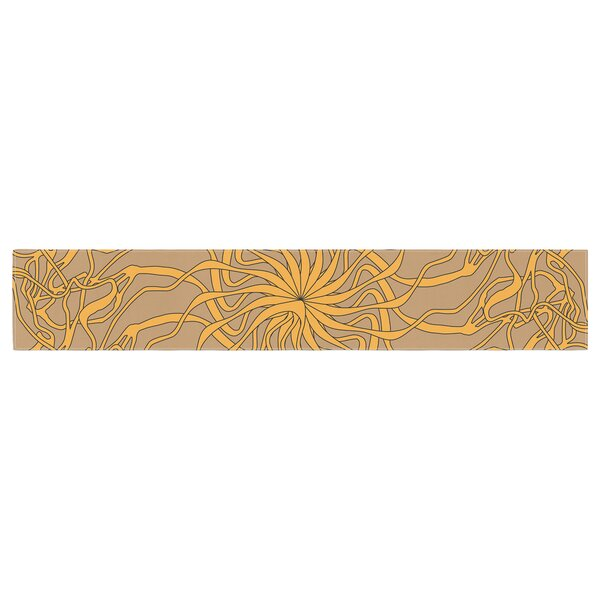 Patternmuse Mandala Spin Latte Table Runner by East Urban Home