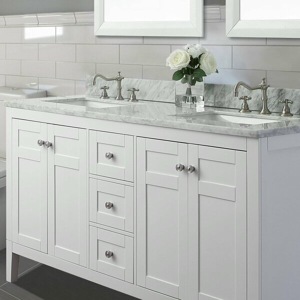 Fuller 60 Double Bathroom Vanity Set by House of Hampton