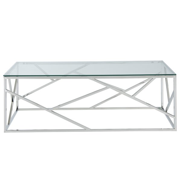 Mentzer Stainless Steel Coffee Table By House Of Hampton