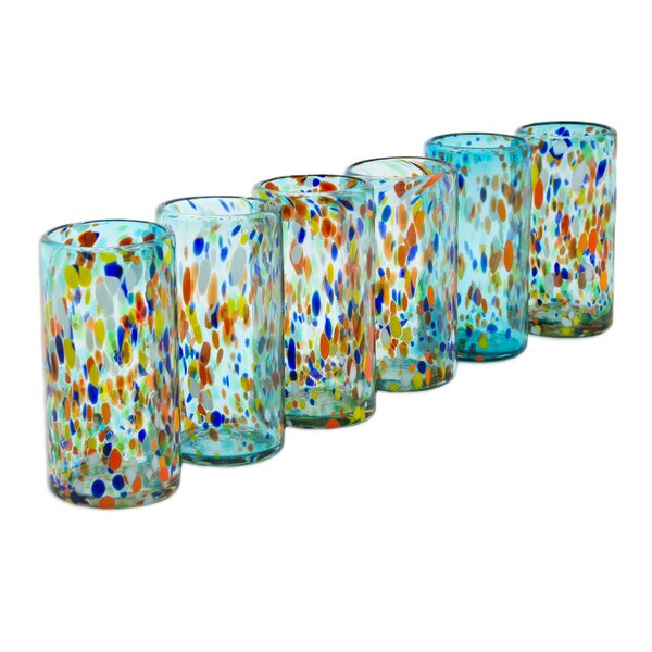 Cathrine Sky Raindrops 16 oz. Insulated Tumbler (Set of 6) by Mint Pantry