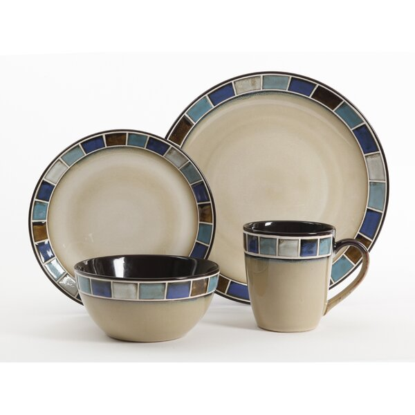 Maverick 16 Piece Dinnerware Set, Service for 4 by Bloomsbury Market