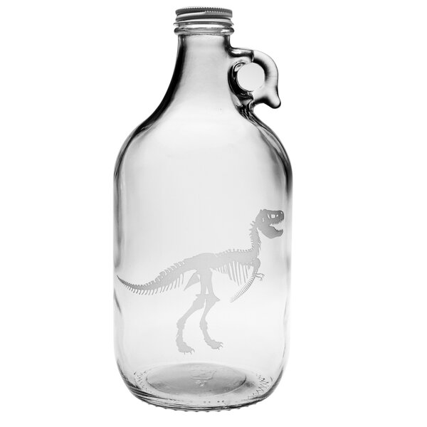T-Rex Glass Growler with Lid by Susquehanna Glass