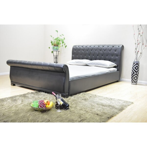 Queen Upholstered Sleigh Bed by Greatime