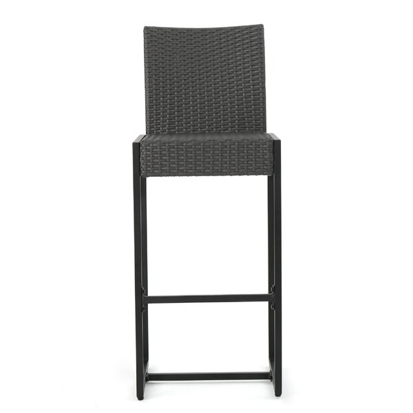 Cleanthes Outdoor Wicker 30 Patio Bar Stool (Set of 2) by Orren Ellis| @ $164.99