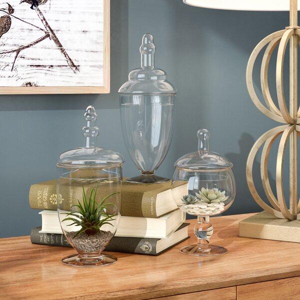Abigail 3 Piece Apothecary Jar Set by Birch Lane™