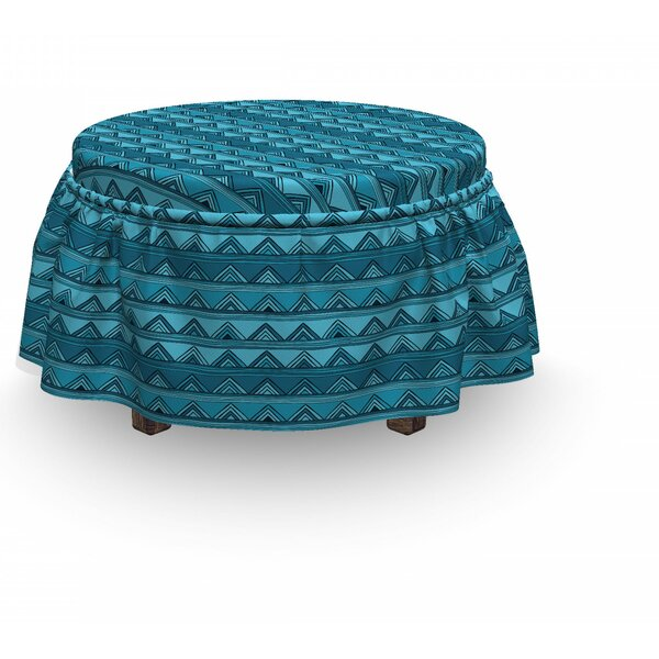 Doodle Triangles Ottoman Slipcover (Set Of 2) By East Urban Home