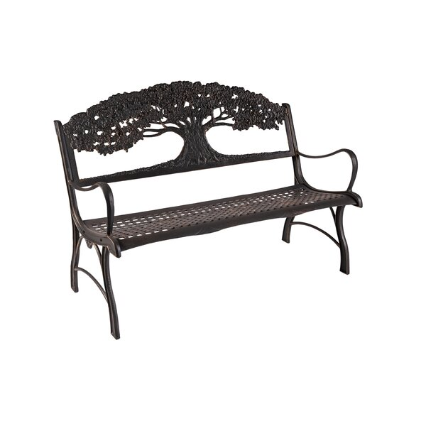 Middlebrooks Tree Cast Iron Park Bench by Canora Grey