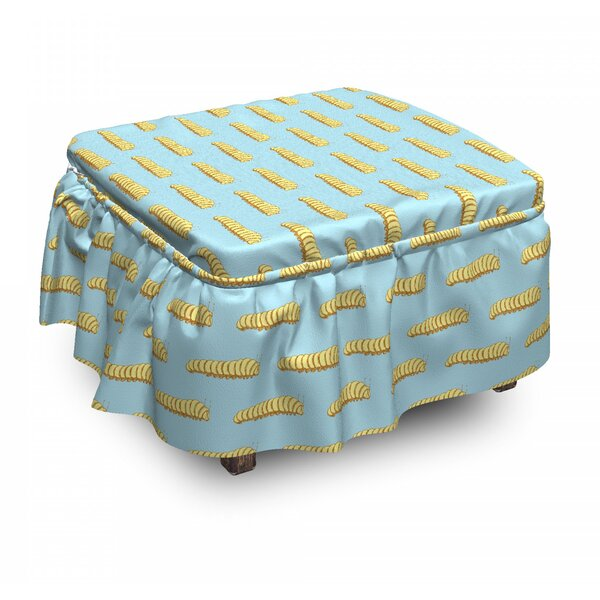 Hand Drawn Ottoman Slipcover (Set Of 2) By East Urban Home