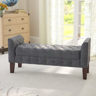 Affordable Price Aimee Upholstered Storage Bench By Three Posts