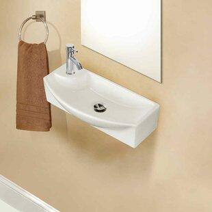 Best Ceramic 18 Wall Mount Bathroom Sink ByAmerican Imaginations