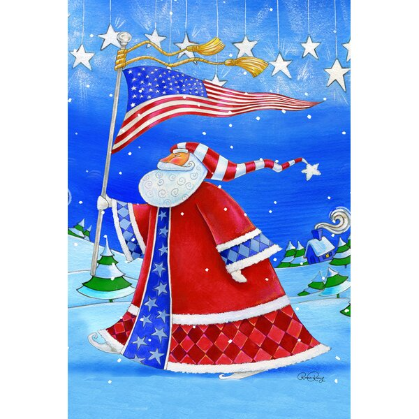 Patriotic Santa 2-Sided Garden flag by Toland Home Garden