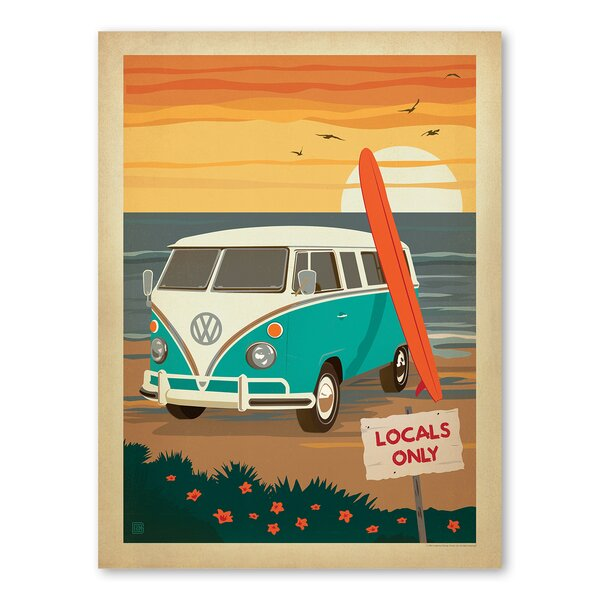 Locals Only VW Vintage Advertisement by East Urban Home