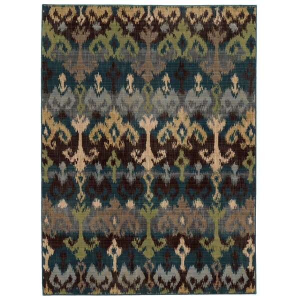 Vintage Abstract Blue/Beige Area Rug by Tommy Bahama Home