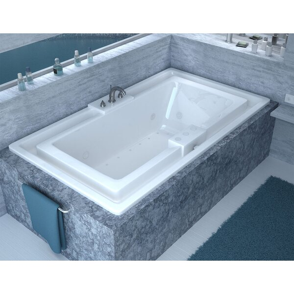 Barbados 78 x 45 Endless Flow Air & Whirlpool Jetted Bathtub with Center Drain by Spa Escapes