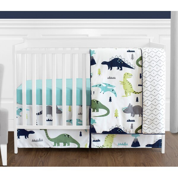Mod Dinosaur 4 Piece Crib Bedding Set by Sweet Jojo Designs