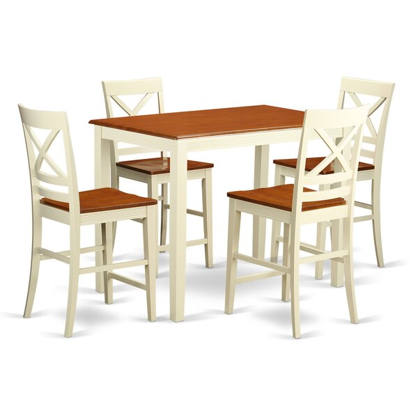 Yarmouth 36 5 Piece Pub Table Set by East West Furniture