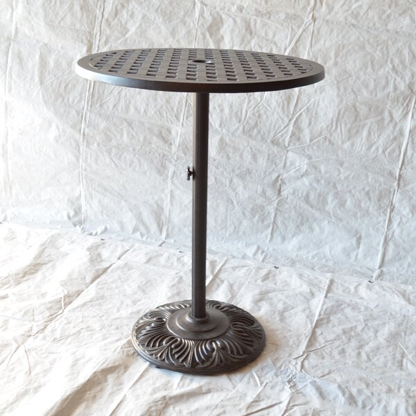 Nola Metal Bar Table By Darby Home Co by Darby Home Co No Copoun