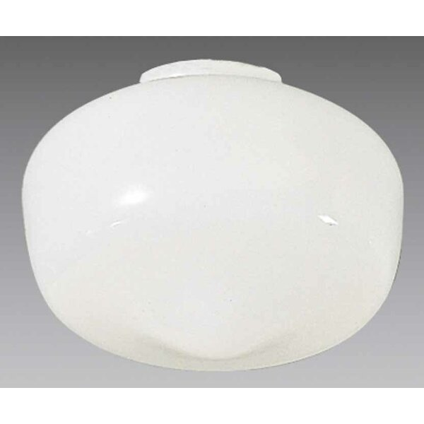 6 H Glass Novelty Pendant Shade ( Screw On ) in White
