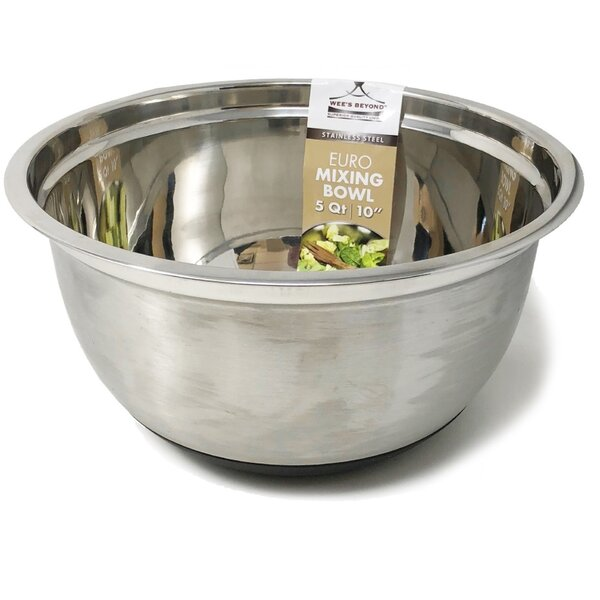 Euro Style Stainless Steel Mixing Bowl by Wee's Beyond