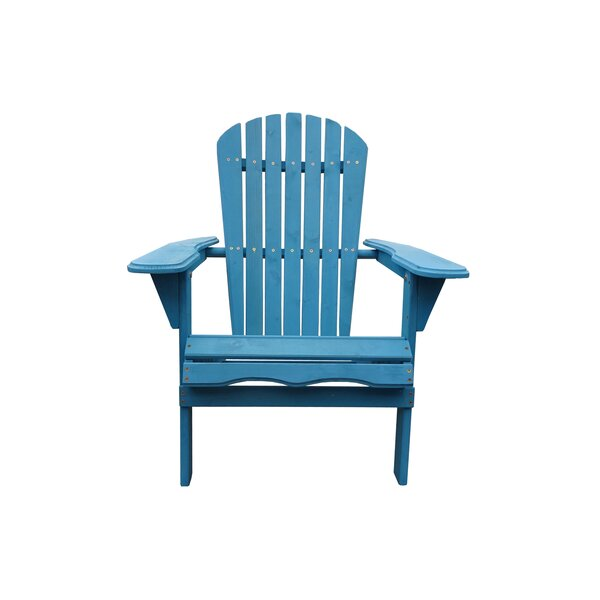Cabral Solid Wood Folding Adirondack Chair (Set of 4) by Breakwater Bay Breakwater Bay