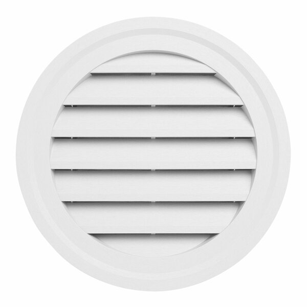 18 x 18 Plastic Round Louver Gable Vent by Ply Gem