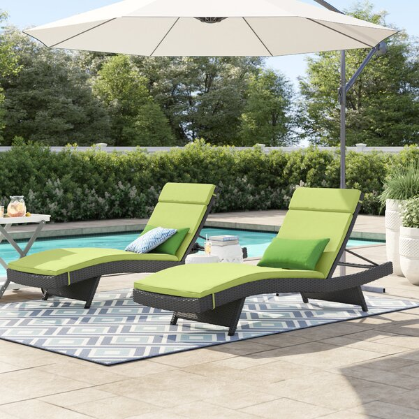 Rebello Sun Lounger Set with Cushions (Set of 2) by Sol 72 Outdoor